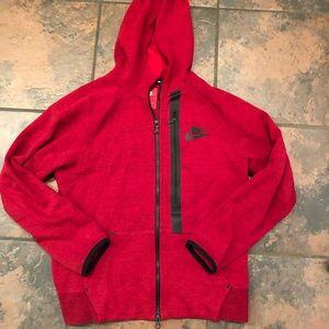 Nike zip up hooded sweatshirt size large